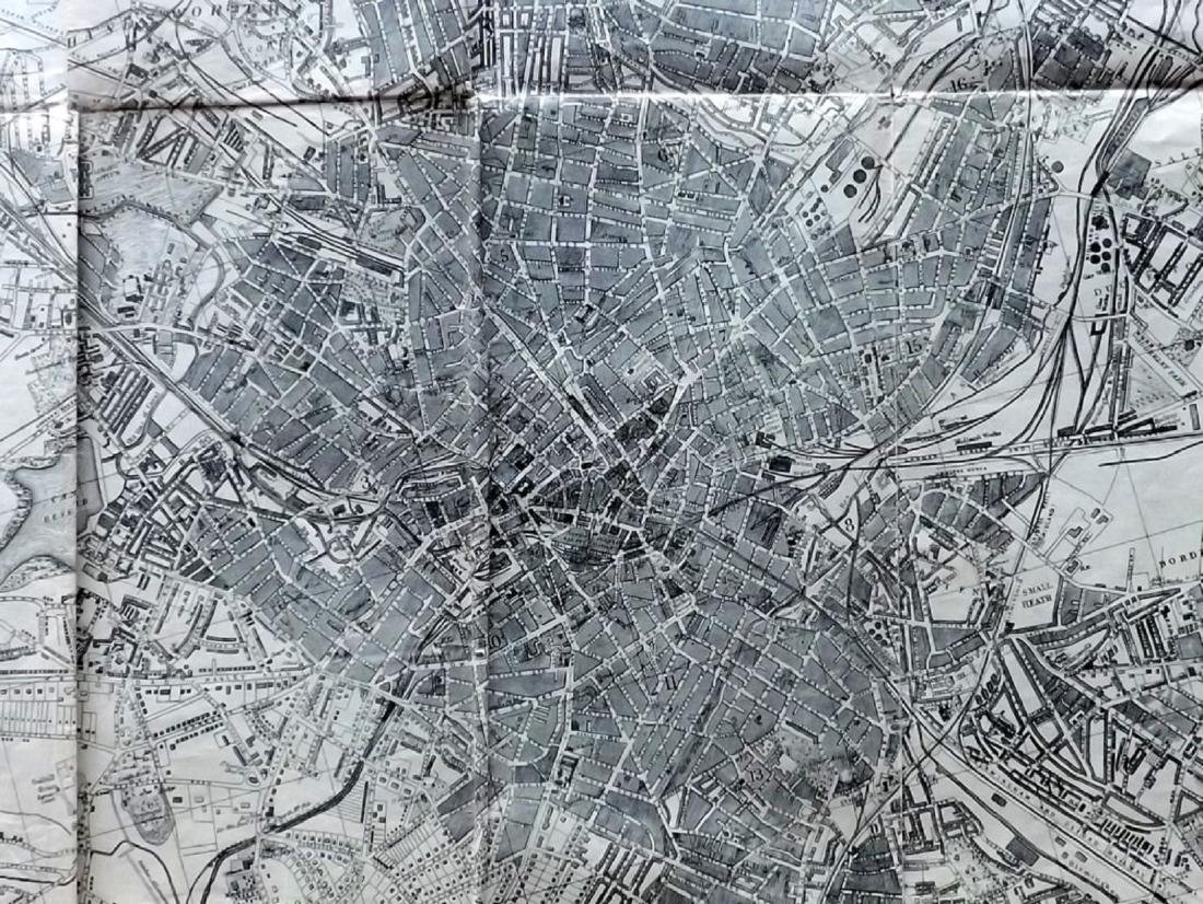 Birmingham C1900 Large Map from Kelly's Directory - 2