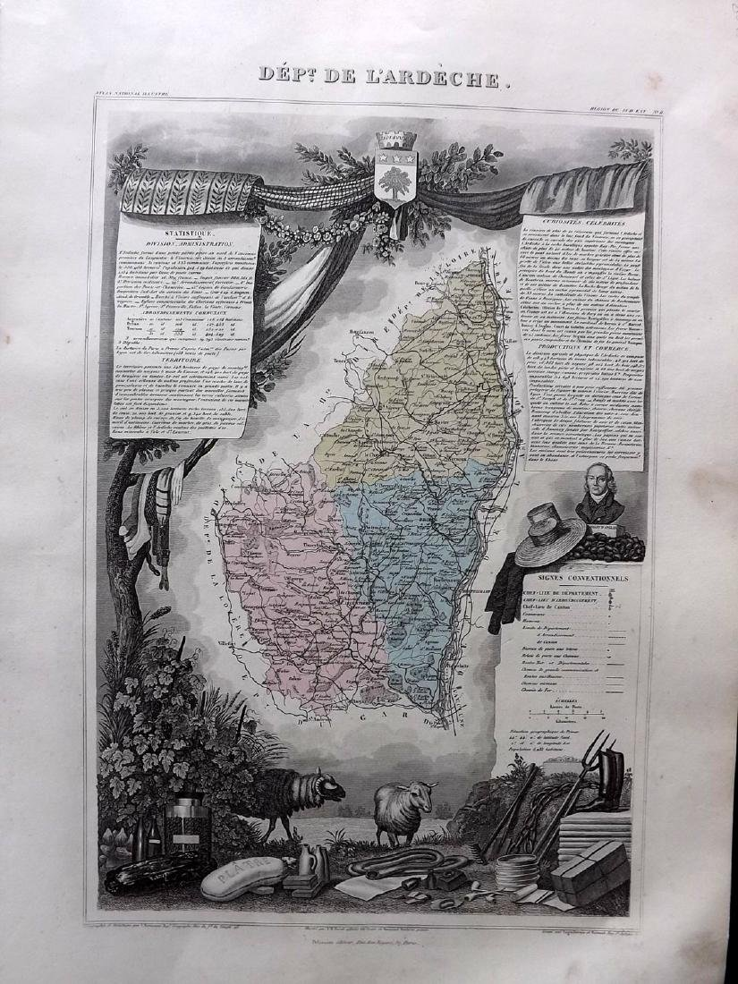 Levasseur, Victor C1850 - 6 Decorative Maps of France - 2