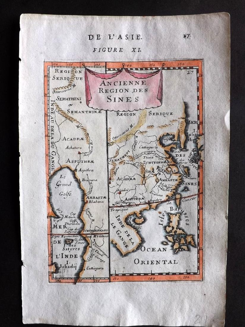 Mallet, Alain Manesson 1683 HCol Map of India & China