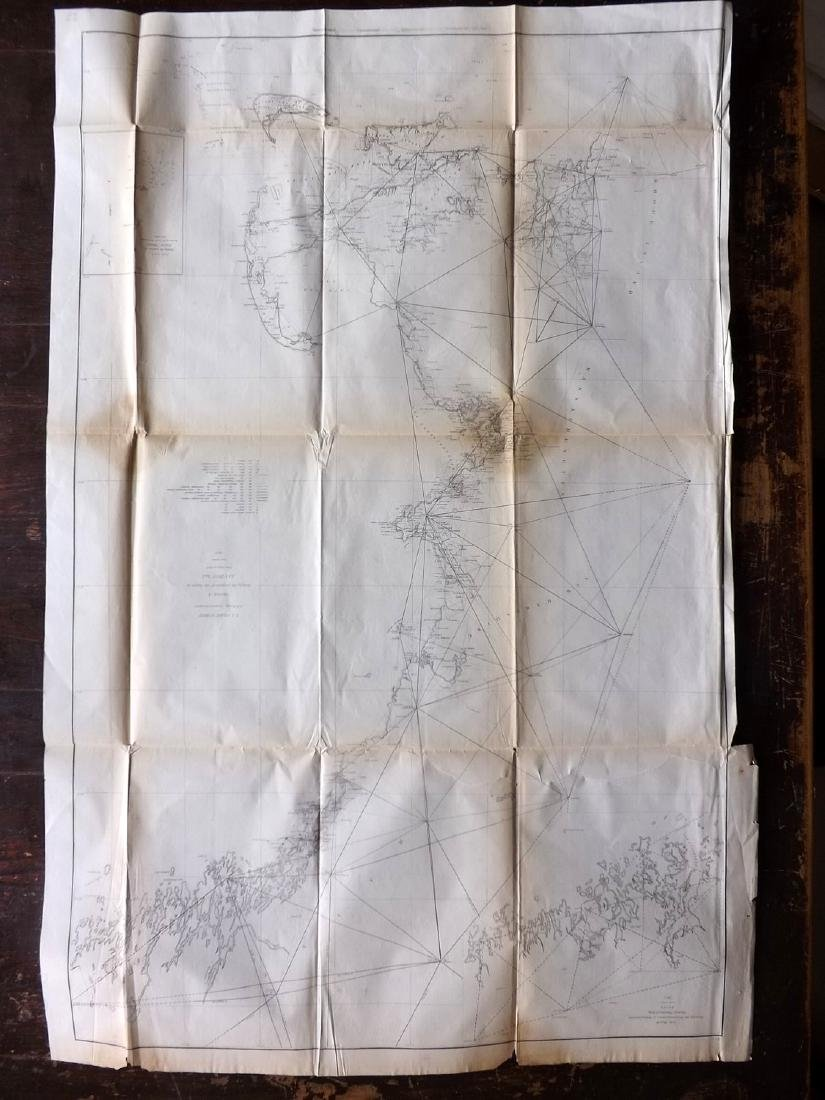 U.S. Coast Survey 1853 Map of Cape Cod, MA, NH