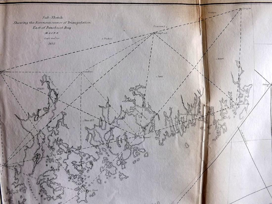 U.S. Coast Survey 1853 Map of Cape Cod, MA, NH - 2