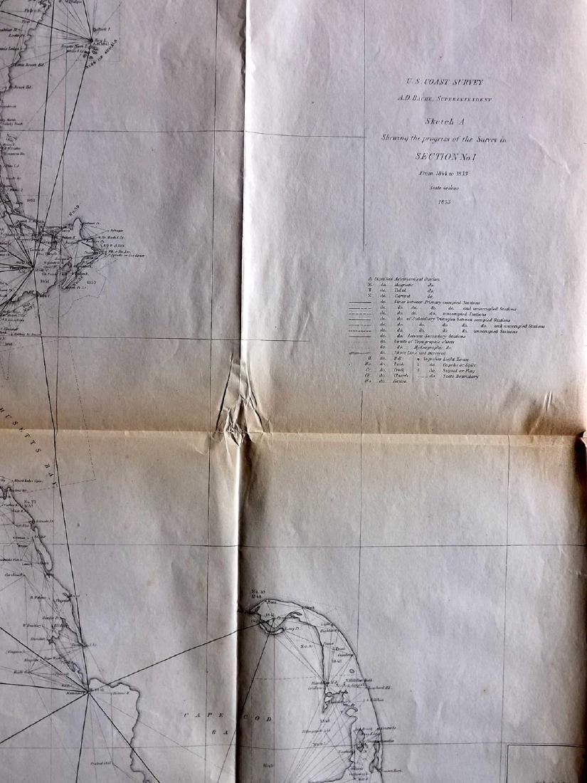 U.S. Coast Survey 1853 Map of Cape Cod, MA, NH - 3