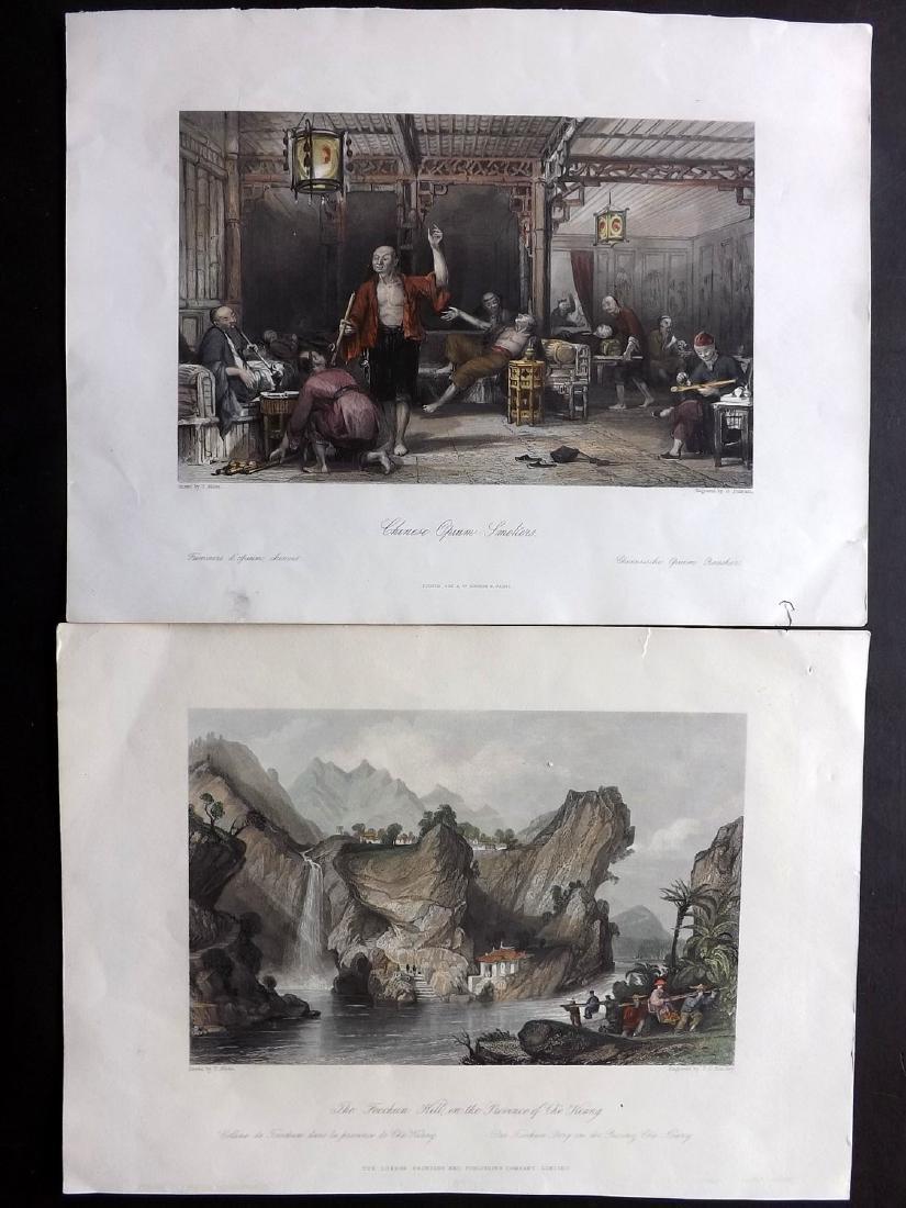Allom, Thomas 1843-C1860 Pair of HC Prints. China