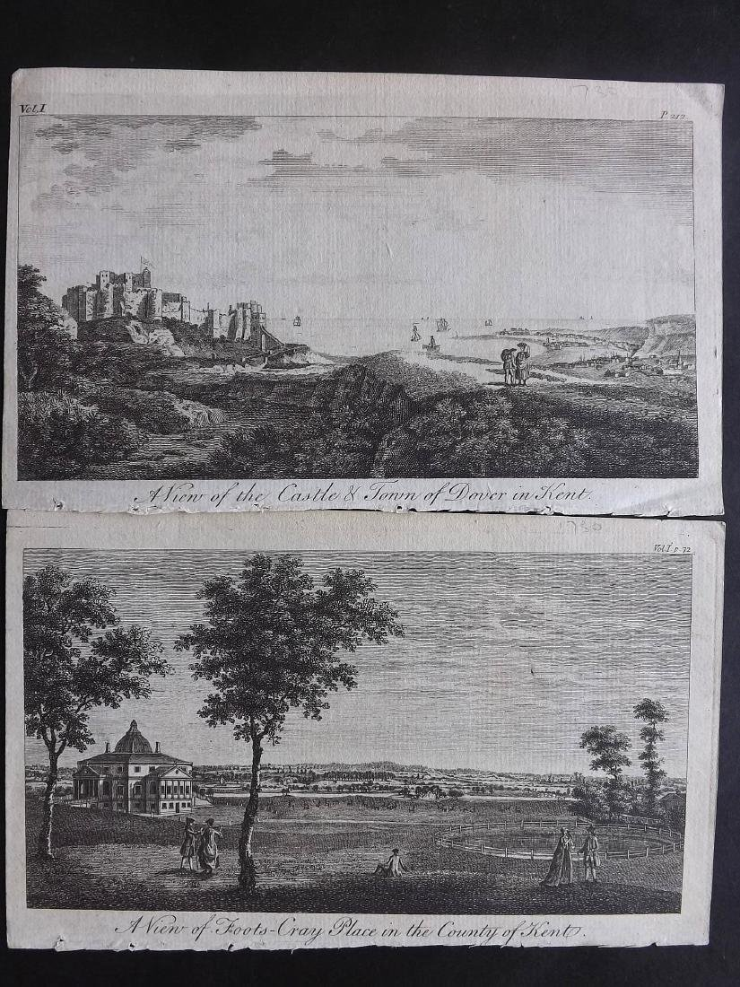 British Views - Kent 18th-19th Lot of 22 Copper Plates - 4