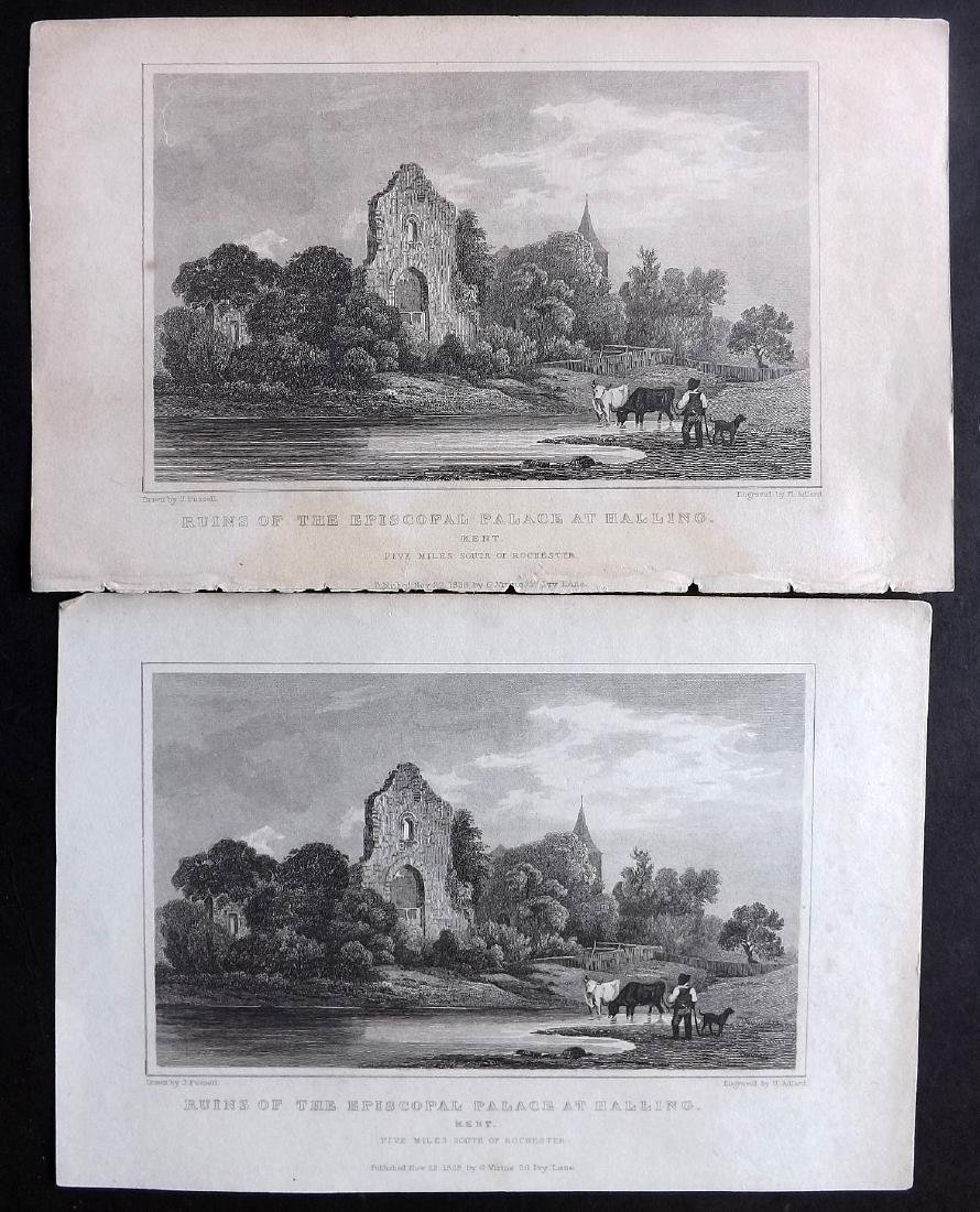 British Views - Kent 19th Cent. Lot 15 Steel Engravings - 2