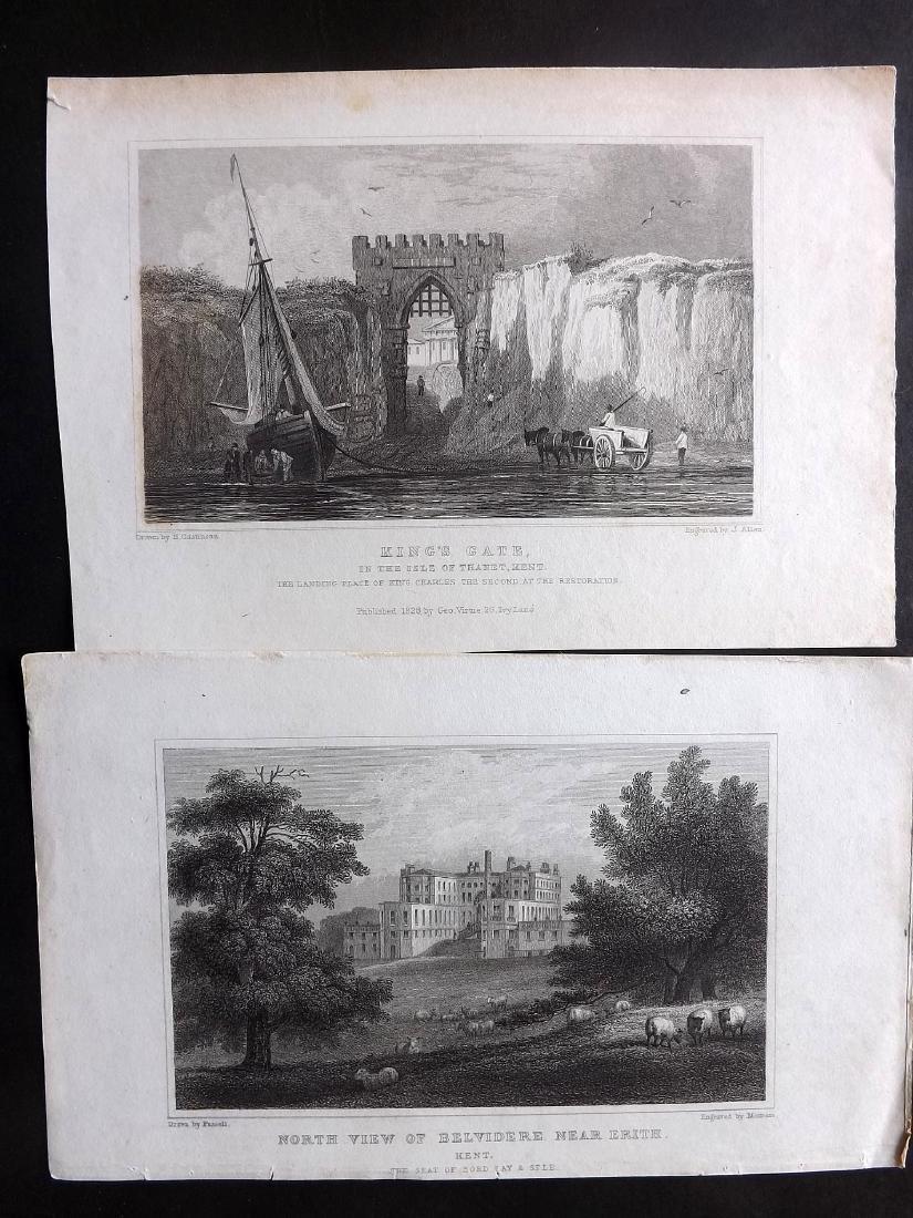 British Views - Kent 19th Cent. Lot 21 Steel Engravings - 2