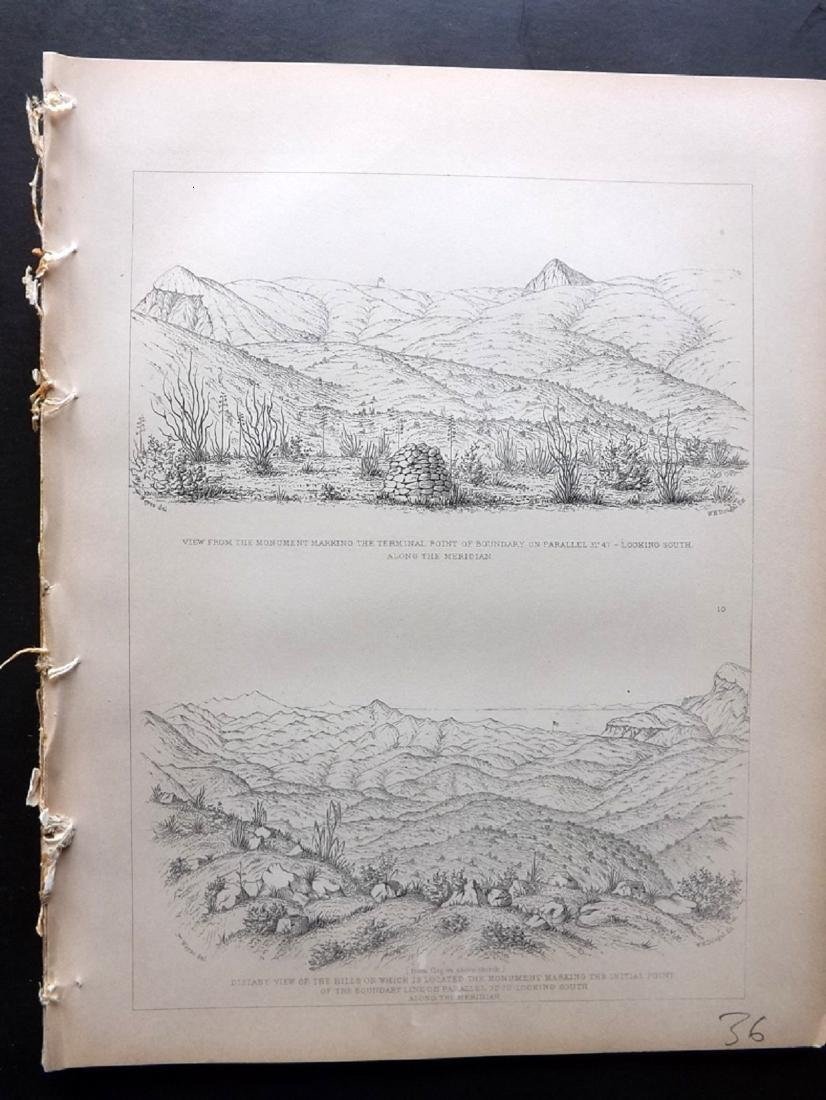 California 1857 Lot of 12 Sheets of Etchings - 4