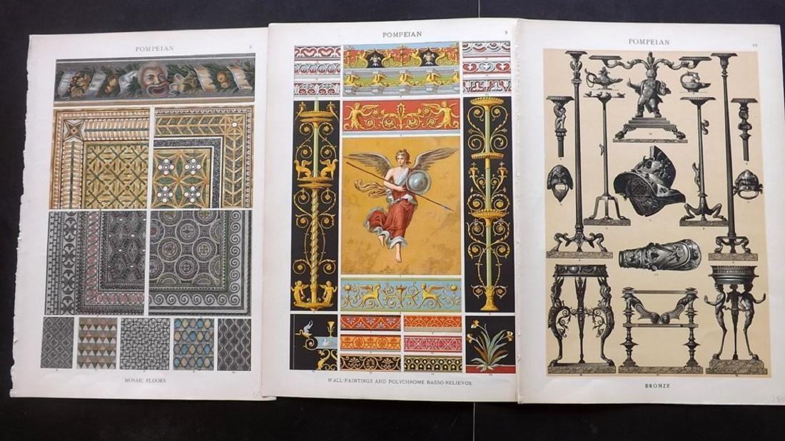Dolmetsch, Heinrich 1912 Pompeian, 3 Design Prints