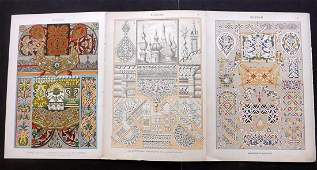 Dolmetsch Heinrich 1912 Russian 3 Design Prints