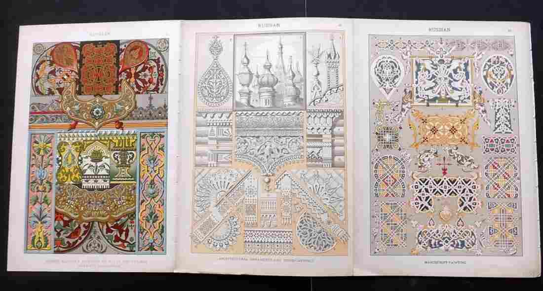 Dolmetsch, Heinrich 1912 Russian, 3 Design Prints