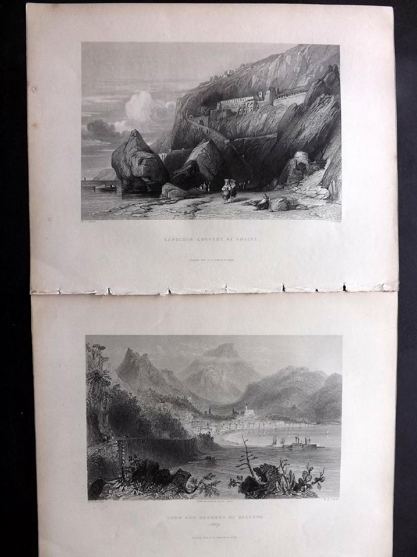 Italy 1840 Lot of 11 Engravings. Ischia, Naples etc - 2