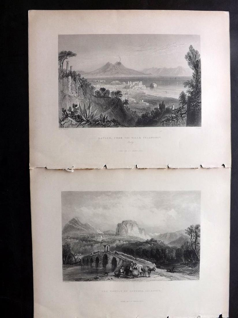 Italy 1840 Lot of 11 Engravings. Ischia, Naples etc - 3
