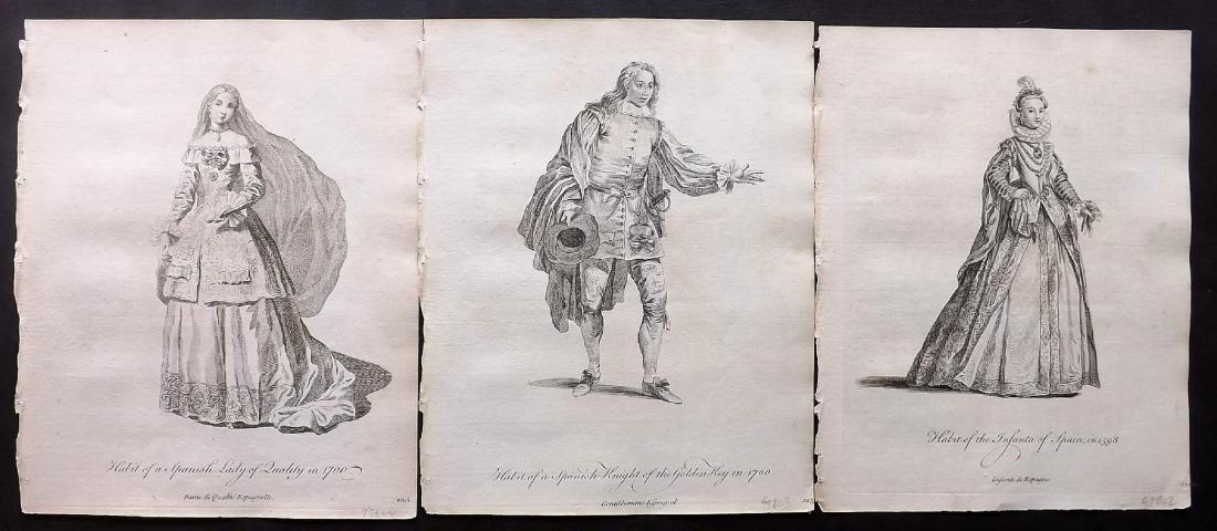 Jefferys, Thomas C1760 - 3 Spanish Costume Prints Spain