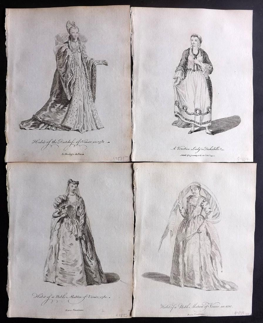 Jefferys, Thomas C1760 - 4 Italian Costume Print Venice