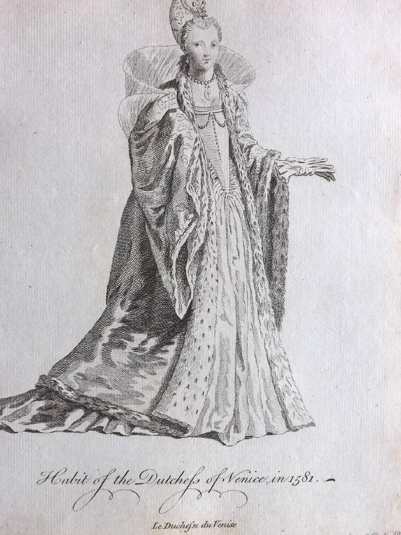 Jefferys, Thomas C1760 - 4 Italian Costume Print Venice - 2