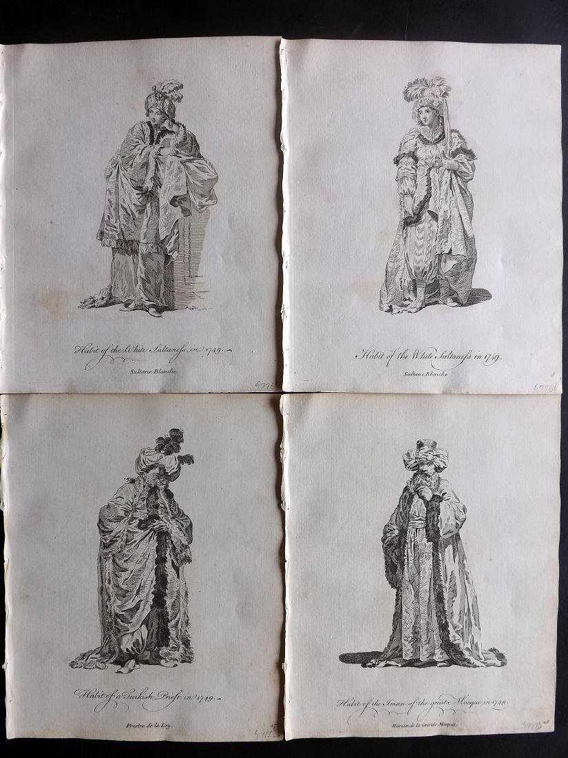 Jefferys, Thomas C1760 - 4 Turkish Costume Print Turkey
