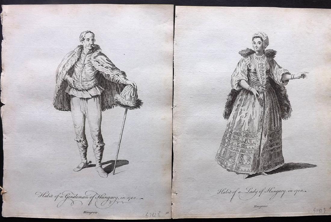 Jefferys, Thomas C1760 Pair of Costume Prints. Hungary