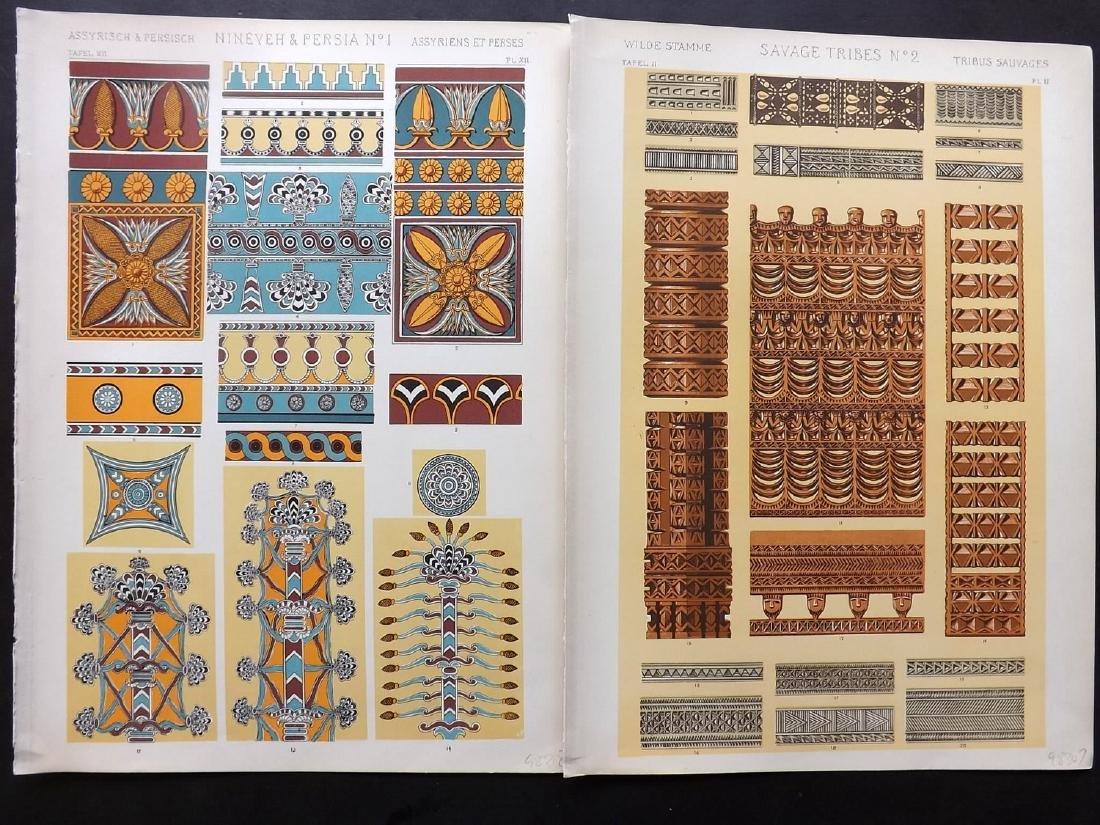 Jones, Owen 1910 Lot of 15 Architectural Design Prints - 2