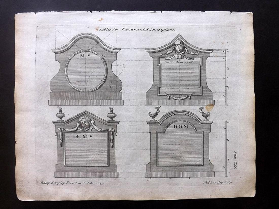 Langley, Batty 1770 Group of 6 Architectural Prints - 2