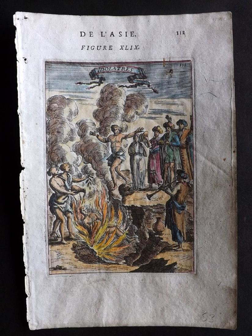 Mallet, Alain Manesson 1683 HC Print India Funeral Pyre