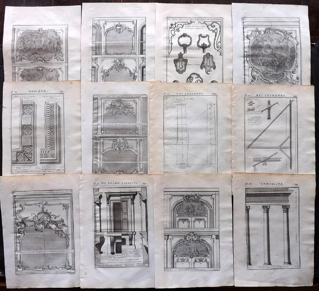 Vignola, Giacomo 1738 Lot of 12 Architectural Prints