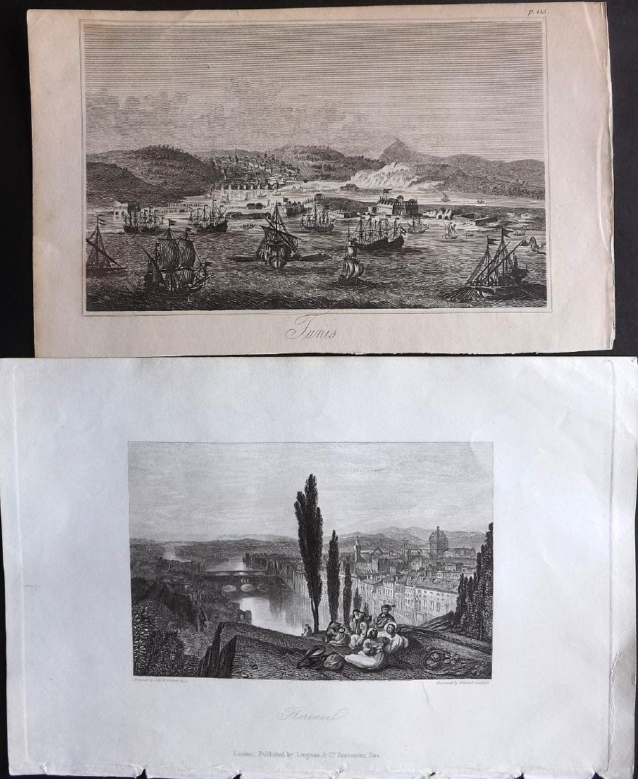 World Views 19th Century Lot of 11 Steel Engravings - 2