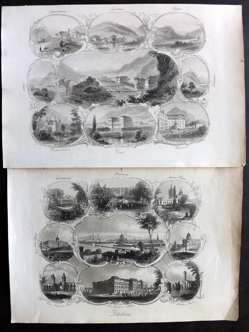 World Views 19th Century Lot of 14 Steel Engravings - 2