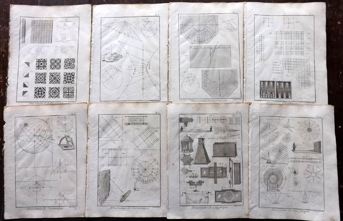 Diderot, Denis C1790 Lot of 11 Science & Tech Prints