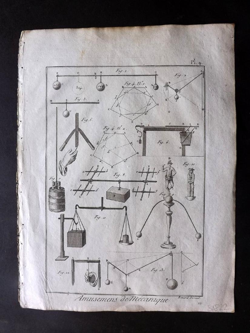 Diderot, Denis C1790 Lot of 13 Science & Tech Prints - 2