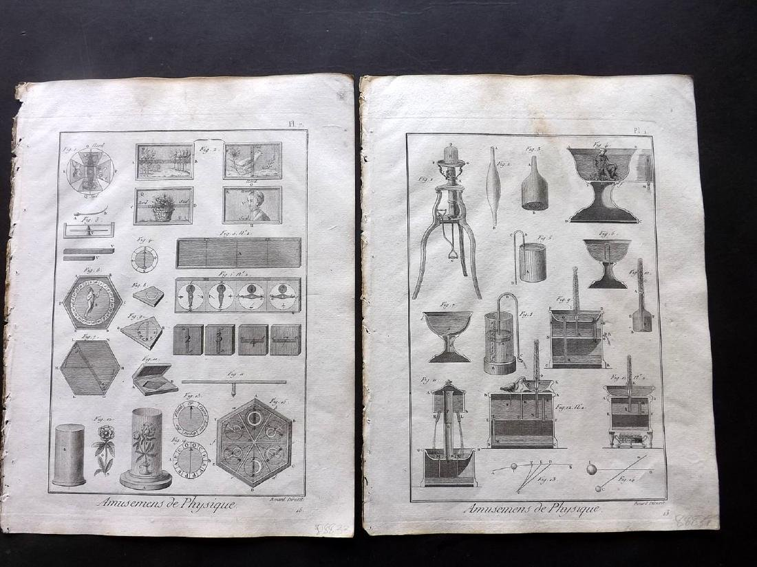 Diderot, Denis C1790 Lot of 14 Science & Tech Prints - 2