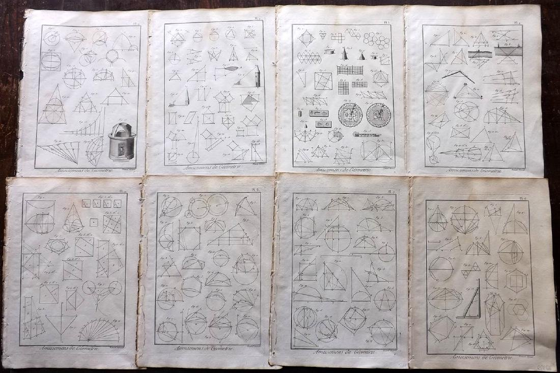 Diderot, Denis C1790 Lot of 8 Science & Tech Prints
