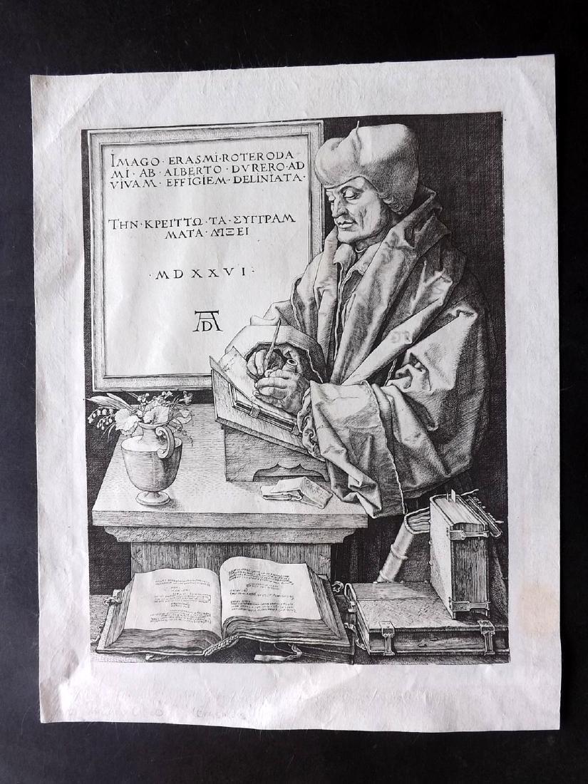 Durand after Albrecht Durer C1850 Heliogravure. Erasmus