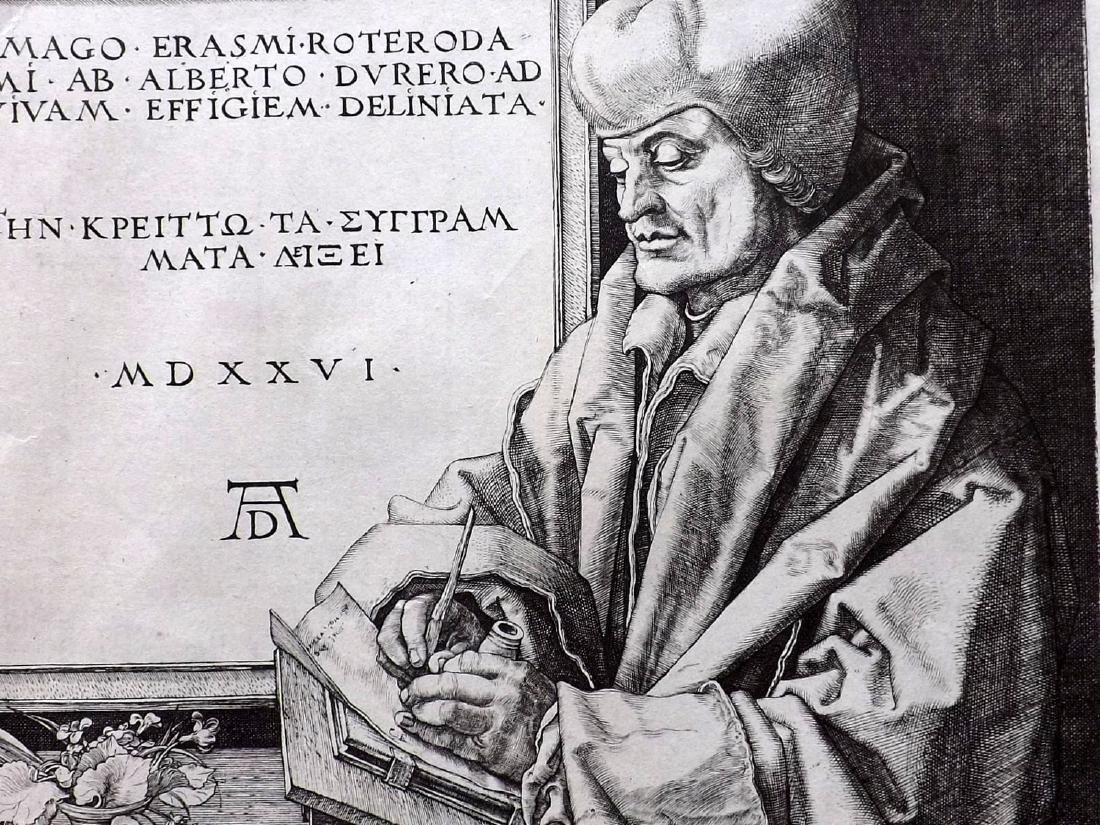 Durand after Albrecht Durer C1850 Heliogravure. Erasmus - 2