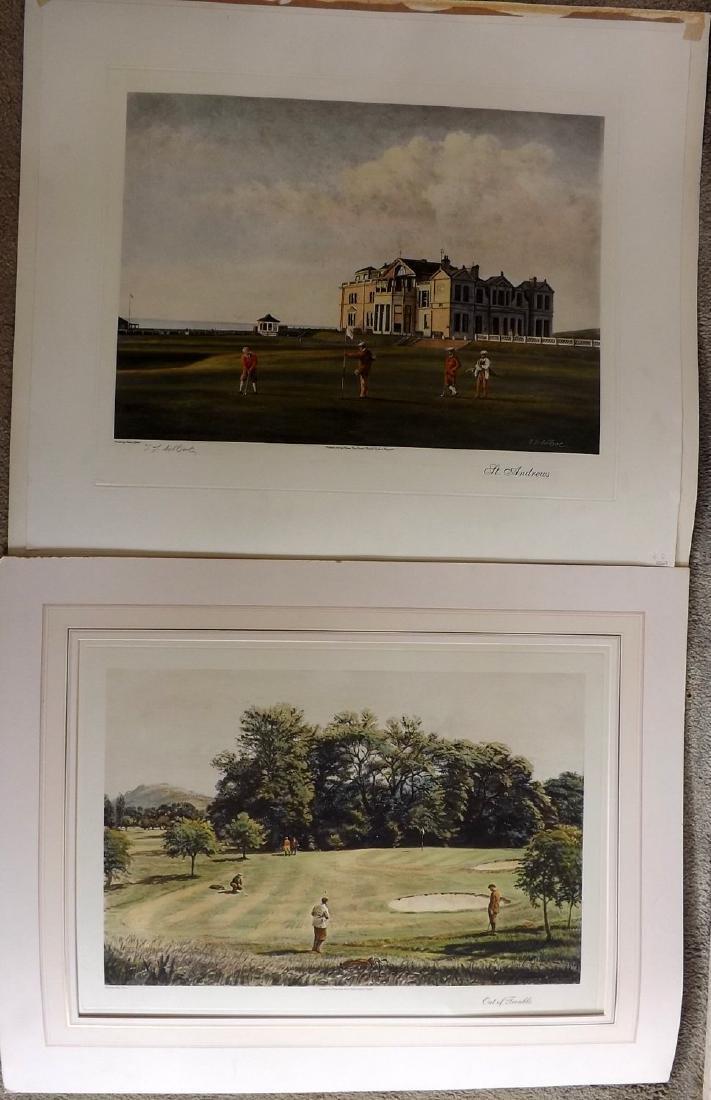 Golf 1993-4 Pair of Large Prints. Gilbert etc