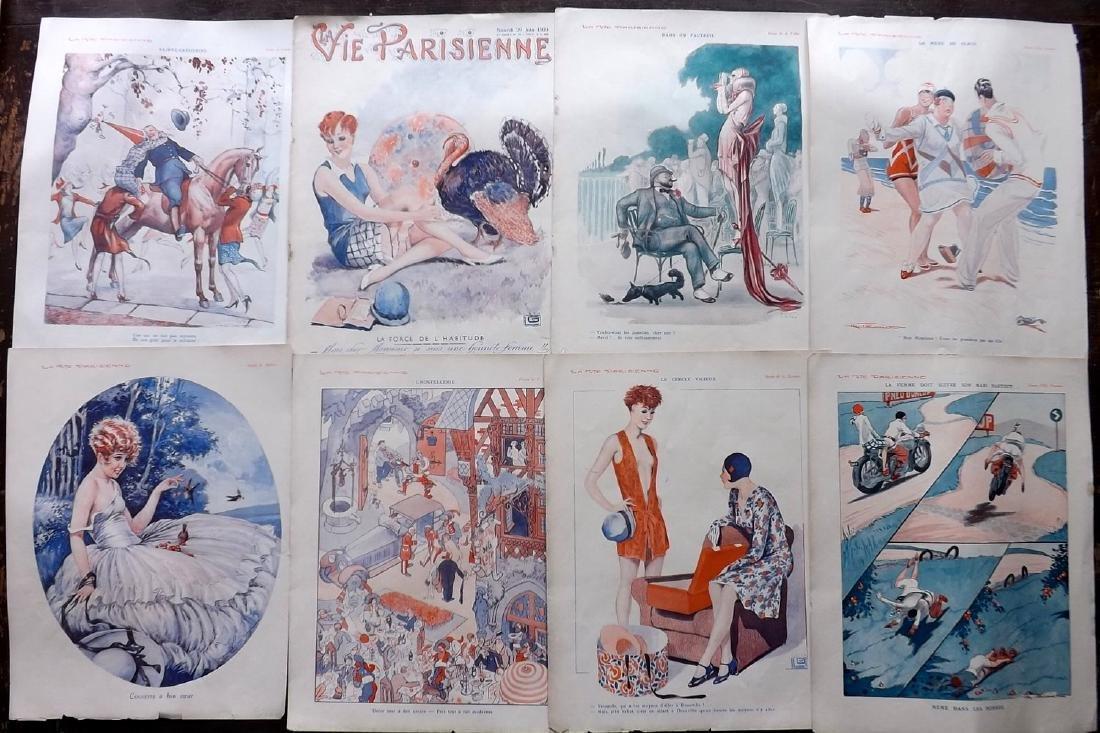 La Vie Parisienne C1920 Lot of 15 Art Deco Prints