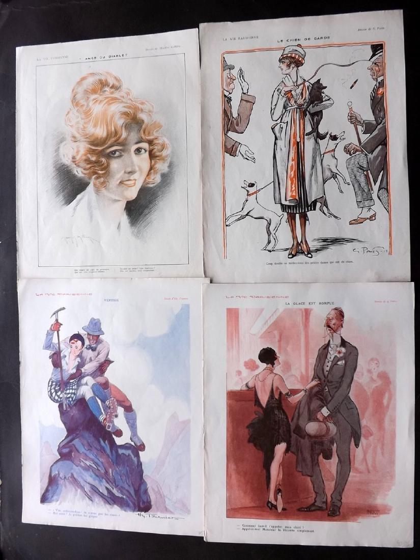 La Vie Parisienne C1920 Lot of 15 Art Deco Prints - 2