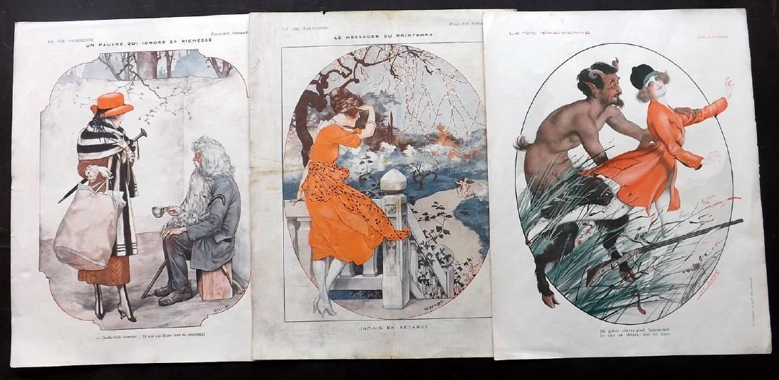 La Vie Parisienne C1920 Lot of 15 Art Deco Prints - 3