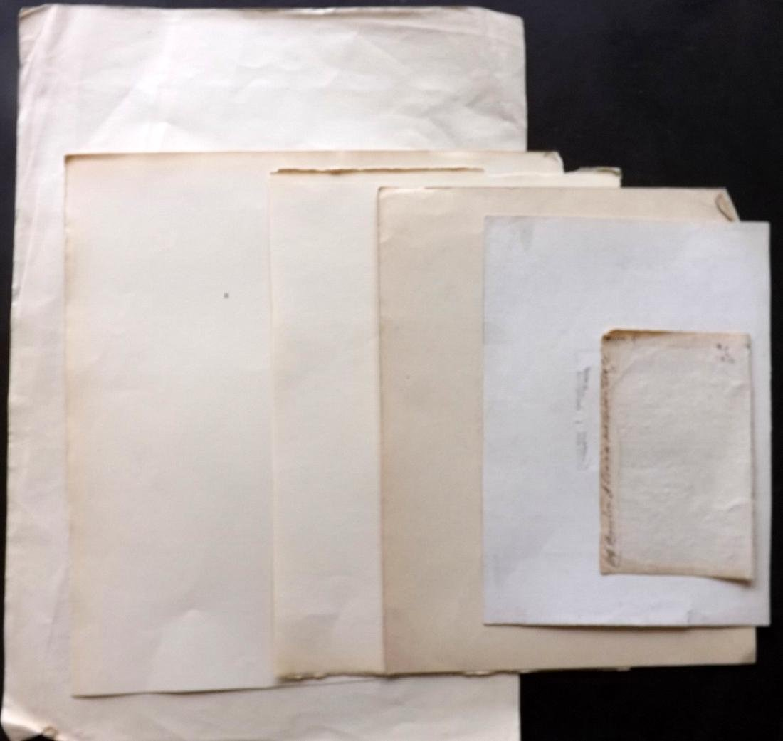 Laid Paper, Bookbinding 18-19th Cent Lot of 32 Sheets - 2