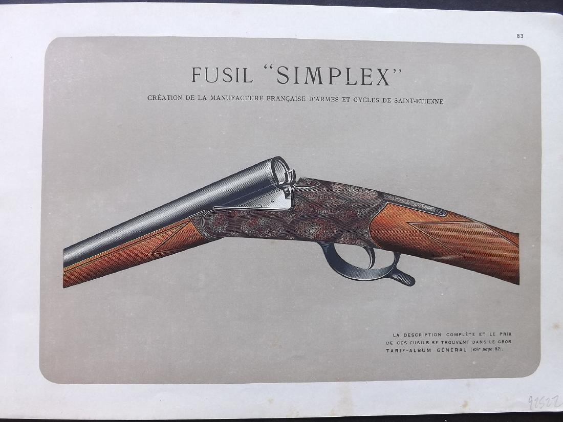 Mahler, P. 1907-31 Group of 5 Prints of Guns - 2