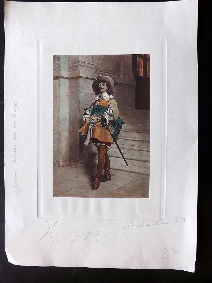 Meissonier, Jean-Louis Ernest  C1890 Print. A Cavalier