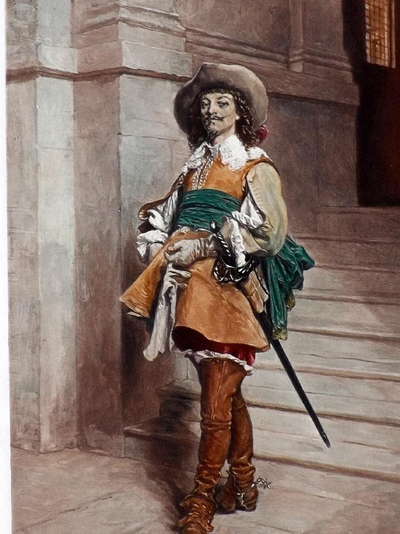 Meissonier, Jean-Louis Ernest  C1890 Print. A Cavalier - 2