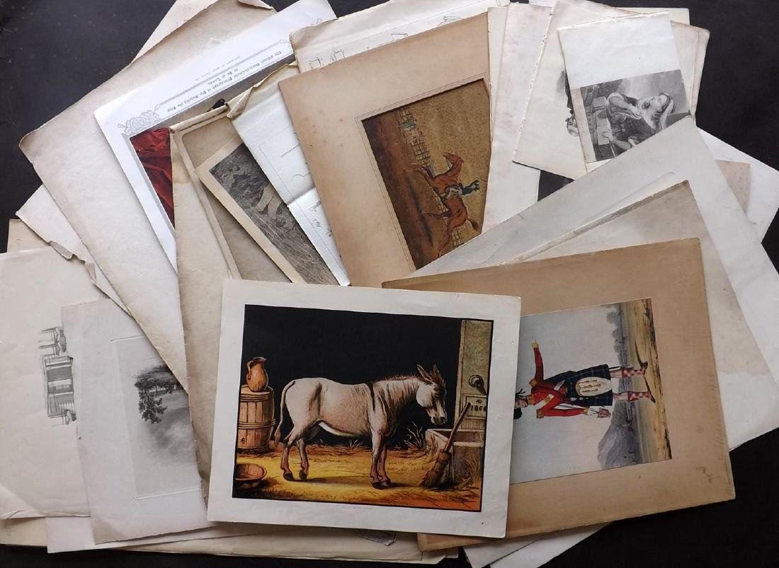 Mixed Prints 17th-19th Century. Lot of 65 Engravings