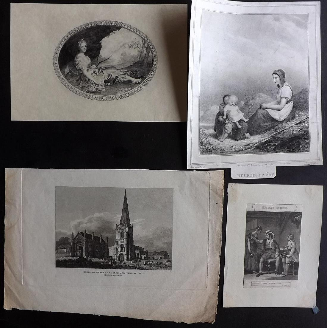 Mixed Prints 18th-19th Century. Lot of 37 - 6