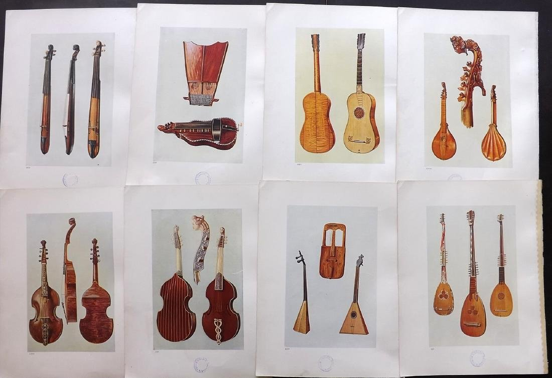 Music 1921 - 8 Prints from Hipkins's Musical Insruments