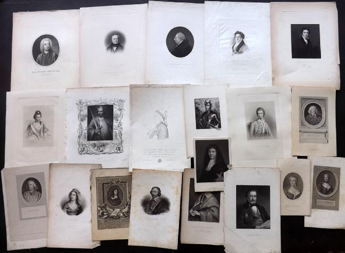 Portraits (British & European) 18th-19th Lot of 28