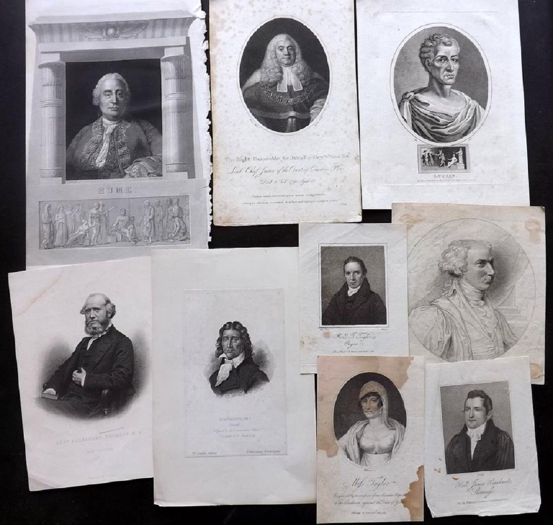 Portraits (British & European) 18th-19th Lot of 28 - 2