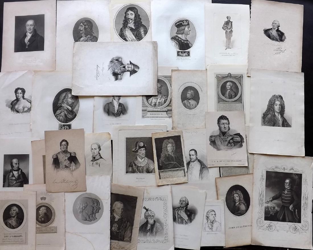 Portraits (European) 18th-19th Century Lot of 32