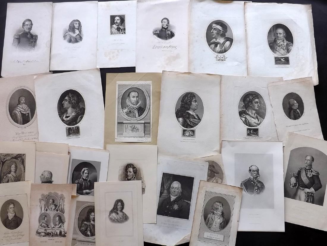Portraits (European) 18th-19th Century Lot of 40
