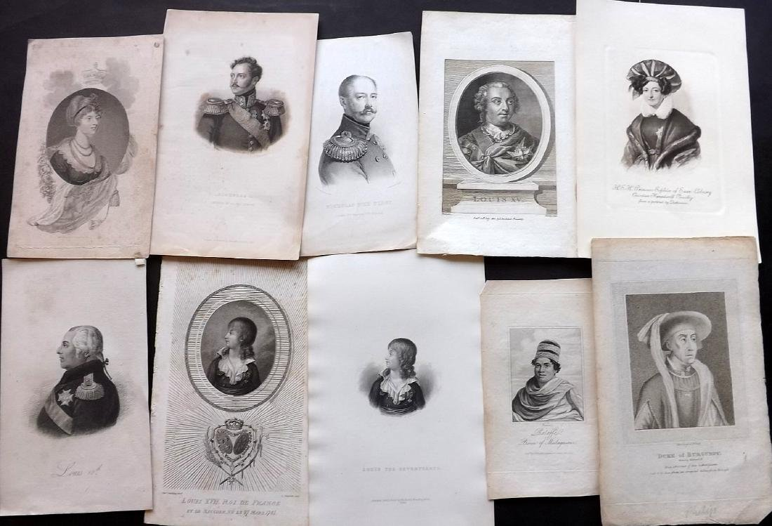 Portraits (European) 18th-19th Century Lot of 40 - 2