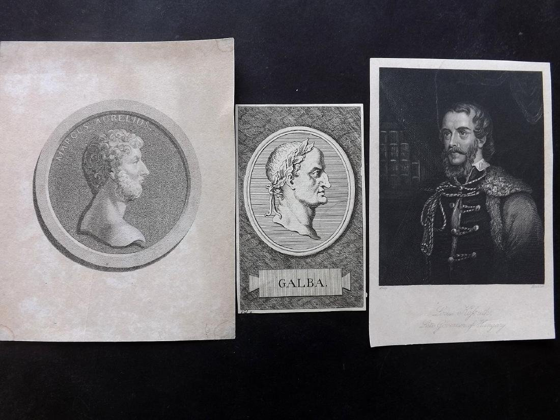Portraits (French) 18th-19th Century Lot of 30 - 2
